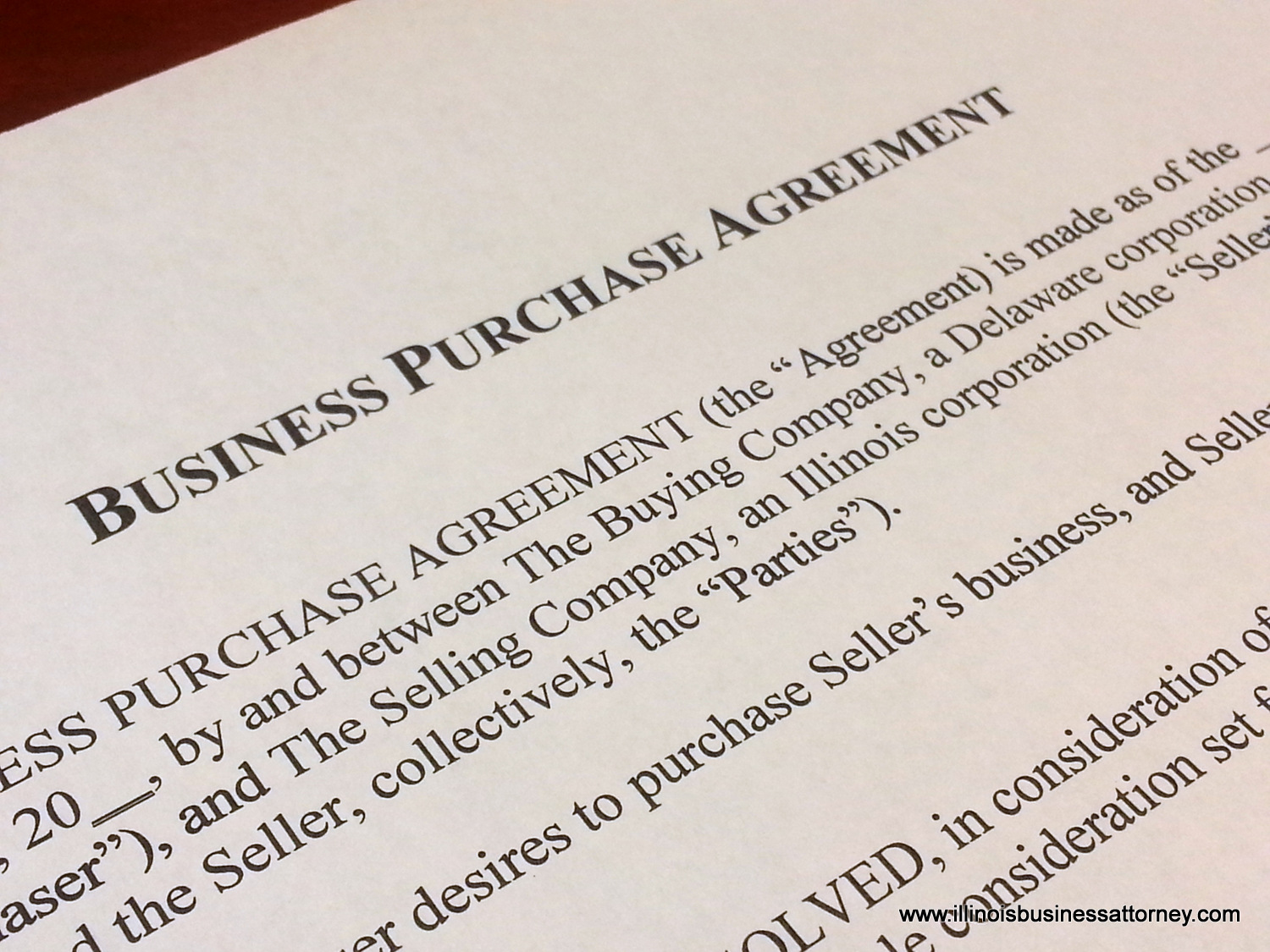 business acquisition agreement illinois business attorney